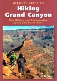 Official Guide to Hiking the Grand Canyon