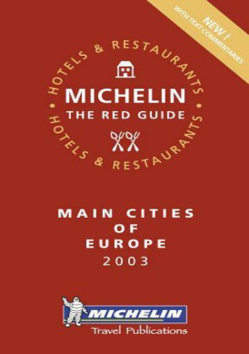 Main Cities of Europe (Michelin Red Guide Main Cities of Europe: Hotels   Restaurants)