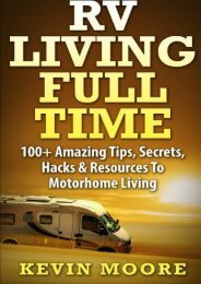RV Living Full Time:: 100+ Amazing Tips, Secrets, Hacks   Resources to Motorhome Living!