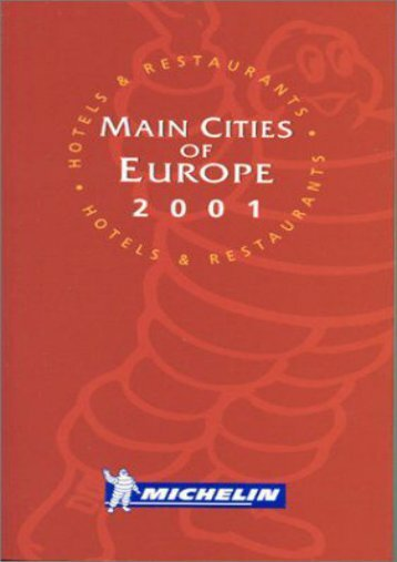 Europe Main Cities (Michelin Red Guide Main Cities of Europe: Hotels   Restaurants)