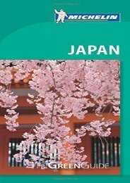 Michelin Green Guide Japan (Green Guide/Michelin)