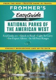 Frommer s EasyGuide to National Parks of the American West (Easy Guides)