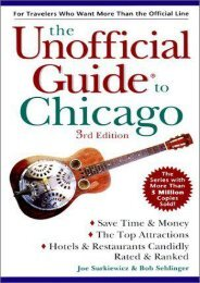 The Unofficial Guide To Chicago (Unofficial Guides)
