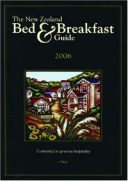 The New Zealand Bed   Breakfast Guide