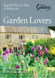 Special Places to Stay in Britain for Garden Lovers, 6th