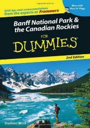 Banff National Park and the Canadian Rockies For Dummies 2nd Edition(Dummies Travel)
