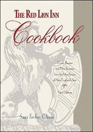 The Red Lion Inn Cookbook: Classic Recipes and New Favorites from the Most Famous of New England s Inns