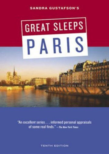 Sandra Gustafson s Great Sleeps in Paris