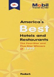 Mobil 99: America s Best Hotels   Restaurants (Mobil Travel Guide: America s Best Restaurants and Hotels)