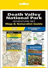 Death Valley National Park Adventure Set: Map   Naturalist Guide