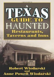 Texas Guide to Haunted Restaurants, Taverns, and Inns