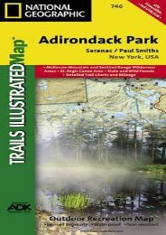 Saranac, Paul Smiths: Adirondack Park (National Geographic Trails Illustrated Map)