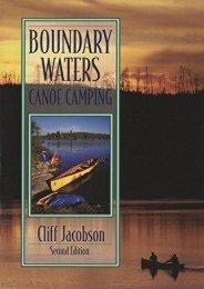 Boundary Waters Canoe Camping, 2nd (Regional Paddling Series)