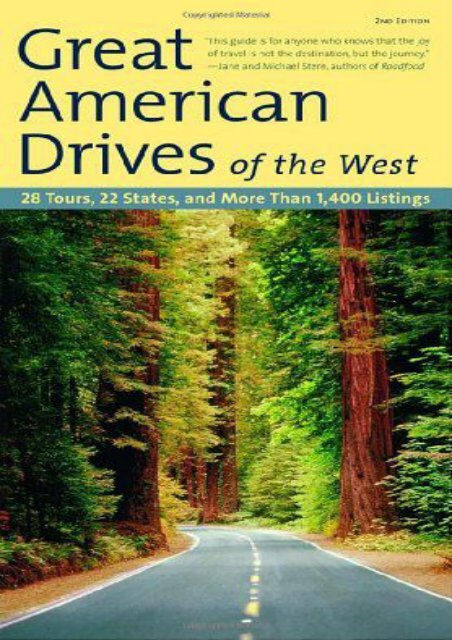 Fodor s Great American Drives of the West, 2nd Edition (Travel Guide)