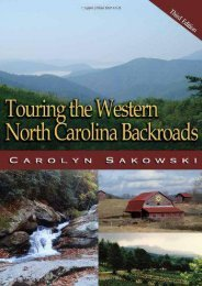 Touring the Western North Carolina Backroads (Touring the Backroads)