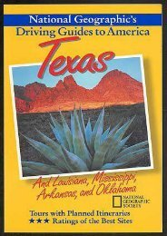 Texas and the South Central (National Geographic s Driving Guides to America)