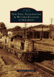 New York, Susquehanna   Western Railroad in New Jersey (Images of Rail)
