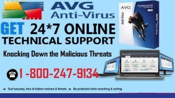 +1(800) 247-9134 AVG Customer Support Number