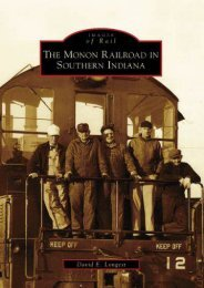The Monon Railroad in Southern Indiana (Images of Rail)