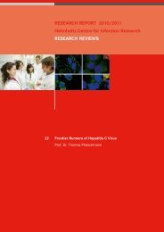 RESEARCH REPORT 2010/2011 Helmholtz Centre for Infection ...