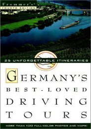 Frommer s Germany s Best-Loved Driving Tours