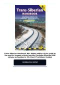 Trans-Siberian Handbook, 8th: Eighth edition of the guide to the world s longest railway journey (Includes Siberian BAM railway and guides to 25 cities) (Trailblazer Guides) - Page 2