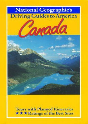 National Geographic Driving Guide to America, Canada (NG Driving Guides)