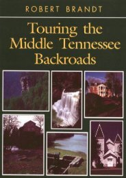 Touring the Middle Tennessee Backroads (Touring the Backroads Series)