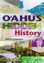 O ahu s Hidden History: Tours into the Past