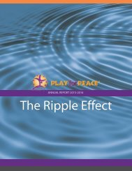 Play for Peace Annual Report 2015-2016