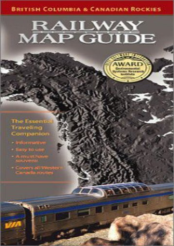British Columbia   Canadian Rockies Railway Map Guide