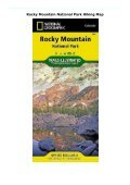 Rocky Mountain National Park Hiking Map - Page 2
