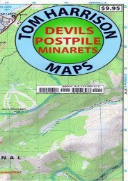 Devil s Postpile Trail Map (Tom Harrison Maps)