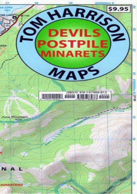 Devil s Postpile Trail Map (Tom Harrison Maps)