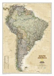 South America Executive [Tubed] (National Geographic Reference Map)