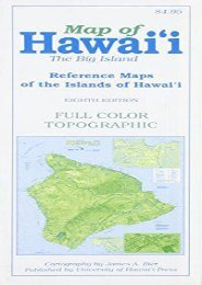 Map of Hawaii: The Big Island
