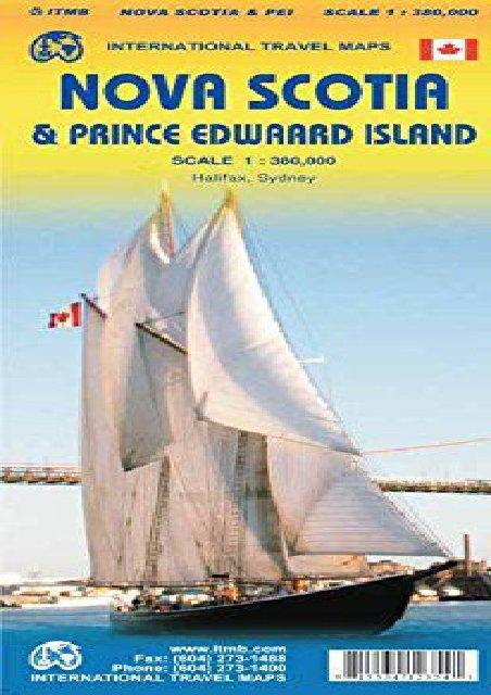 Nova Scotia / PEI Travel Reference Map 1 : 400 000