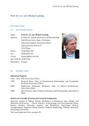 Prof. Dr. rer. nat. Michael Ludwig - University of Bonn - Medical ...