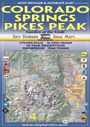 Colorado Springs   Pikes Peak Trail Map 4th Edition