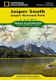 Jasper South [Jasper National Park] (National Geographic Trails Illustrated Map)