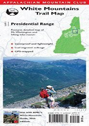 AMC Map: Presidential Range: White Mountains Trail Map (Adventure Series)