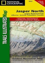 Jasper North [Jasper National Park] (National Geographic Trails Illustrated Map)