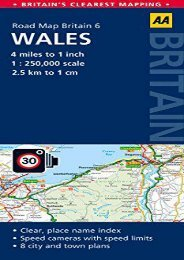 Wales Road Map (Aa Road Map)