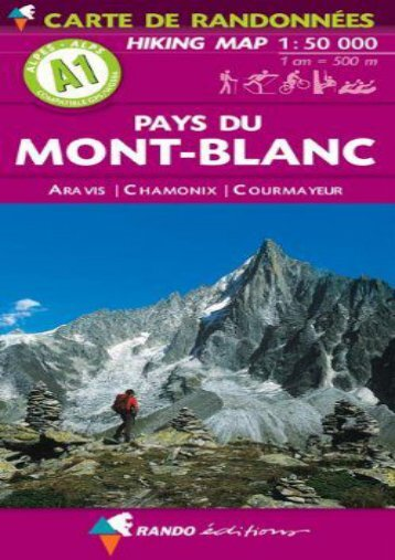 Pays Du Mont-Blanc 1:50K (Hiking Map) (French Edition)