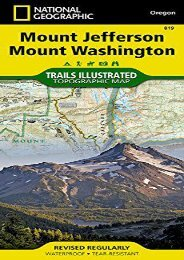 Mount Jefferson, Mount Washington (National Geographic Trails Illustrated Map)