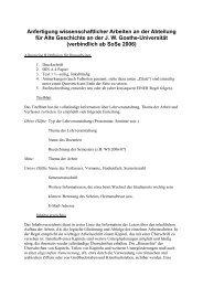Anfertigung wissenschaftlicher Arbeiten an der Abteilung für Alte ...