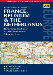 Road Map France, Belgium   the Netherlands (Road Map Europe)