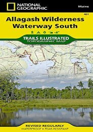 Allagash Wilderness Waterway South (National Geographic Trails Illustrated Map)