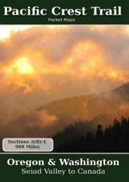 Pacific Crest Trail Pocket Maps - Oregon   Washington