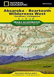 Absaroka-Beartooth Wilderness West [Gardiner, Livingston] (National Geographic Trails Illustrated Map)